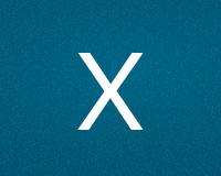 Трафареты буквы X