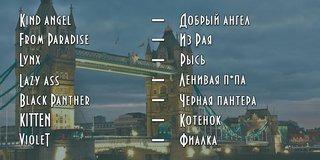 Красивые английские имена девушкам